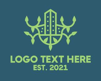 Property - Green Eco Property logo design
