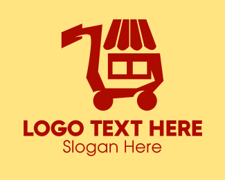 Push Cart - Supermarket Shopping Cart  logo design