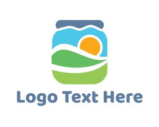 Jar - Abstract Valley Jar logo design