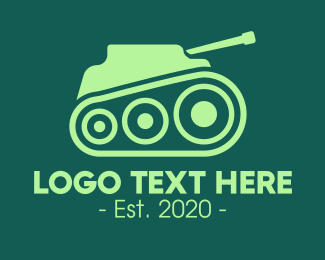 Militia - Green Military Tank logo design