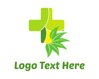Ecological - Natural Green Cross logo design
