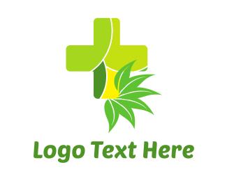 """Natural Green Cross"" by LogoBrainstorm"
