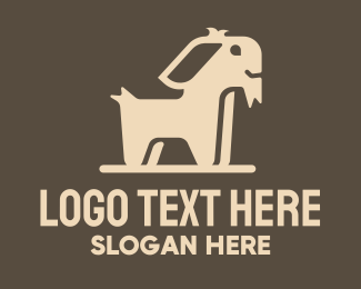 Cattle Farm - Brown Simple Goat logo design