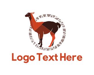 Furry - Brown Llama logo design