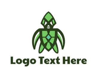 Sea Turtle - Green Turtle Gaming logo design