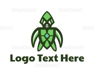 Swimmer - Green Turtle Gaming logo design