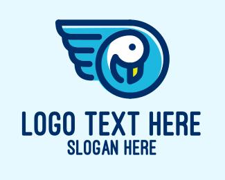 Pet Store - Cute Pet Duck  logo design
