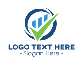 Check Mark - Stock Market Check logo design
