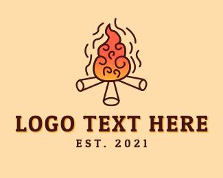Camp Fire - Woodfire Camp logo design