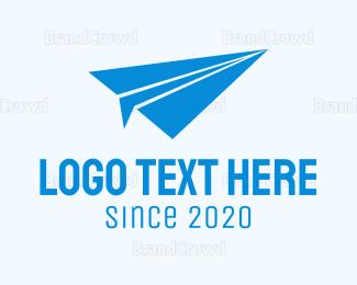 Flyer - Black Paper Plane logo design