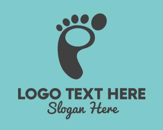 Feet - Black Footprint logo design