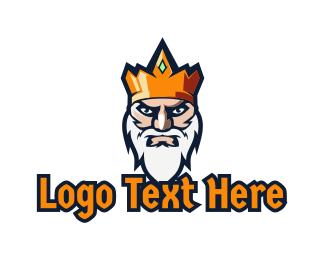 Leader - Wise King Gaming logo design