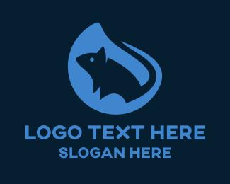 Rat - Blue Rat logo design