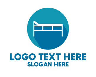 Hospital - Hospital Bed logo design