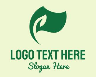 Windy - Green Nature Eco Flag  logo design