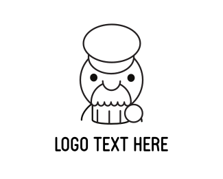 French - Muffin Man logo design