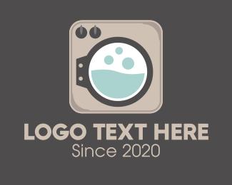 Laundry Service - Front Load Washer App logo design