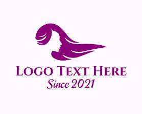 Beauty - Purple Girl Hairstylist logo design