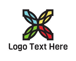 Crystal - Colorful Flower logo design