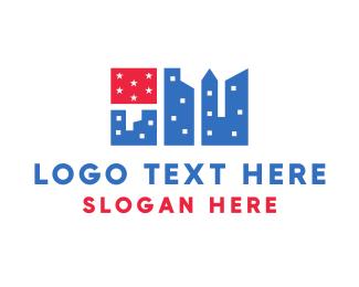 New York - Flag City logo design