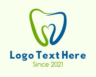 Clinic - Dental Clinic Heart  logo design