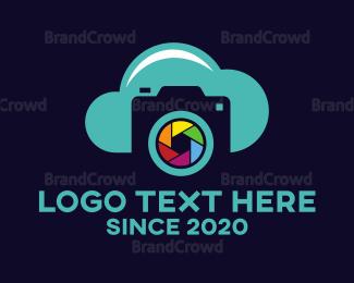 File Transfer - Cloud Shutter App logo design