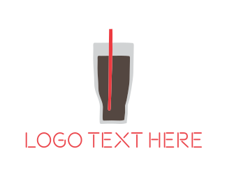Ice Tea - Black Drink logo design