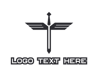 Sword - Sword Wings logo design