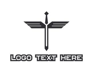 Sword - Sword Wings logo design
