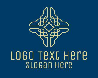 Eucharist - Geometric Cross Pattern  logo design