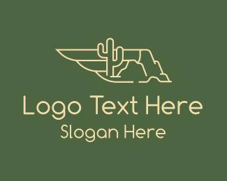 Outback - Desert Wing Sandstorm logo design