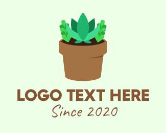 Pebble - Succulent Gardening Pot logo design