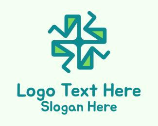 Pharmacist - Abstract Green Cross logo design