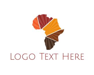African - Africa Map logo design