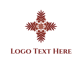 Religion - Tropical Palm  logo design