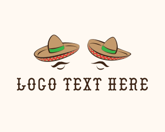 Mustache - Mexican Hats logo design