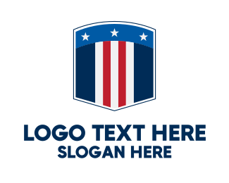 Election Campaign - Stars And Stripes Security  logo design