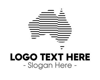 Country - Monochrome Australian Country logo design