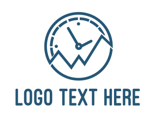 Glacial - Peak Time logo design