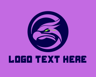 Mascot - Gaming Falcon Mascot  logo design