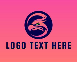 Falcon - Gaming Falcon Mascot logo design