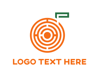 Orange And White - Orange Maze logo design
