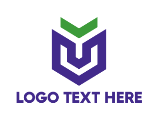 Brand - Violet Arrow Shield  logo design
