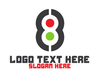 Highway - Modern Dot Number 8 logo design