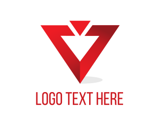 Triangular - Red Triangle  logo design