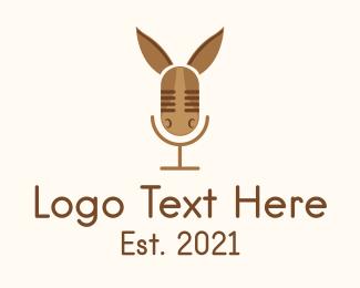 Social Media - Donkey Audio Podcast logo design