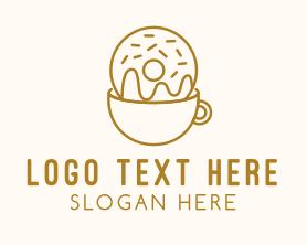 Coffee - Brown Coffee Donut logo design
