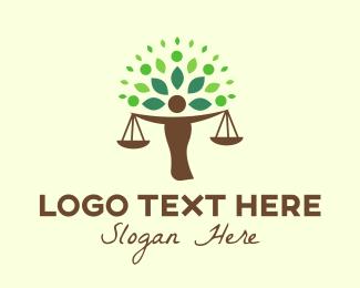 Liberty - Justice Tree logo design