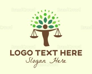 Law - Justice Tree logo design