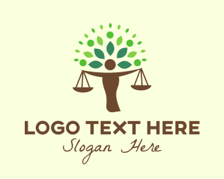 Attorney - Justice Tree logo design